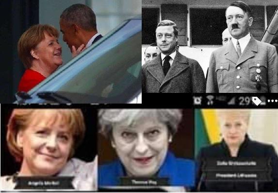 "Iluminaci – Klara Hanover / Polzi ""Windsor"" + Salomon Meyer Rotszyld = Adolf Hitler wnuk Barrak Obama + wiele więcej."