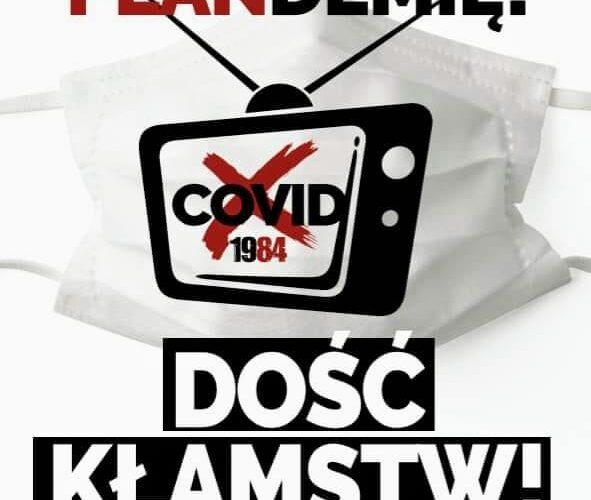 """Warszawa: 12 września odbędzie się protest: """"Zakończyć plandemię! Dość kłamstw!"""""""