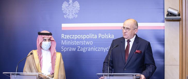 Minister Zbigniew Rau spotkał się z ministrem spraw zagranicznych Arabii Saudyjskiej