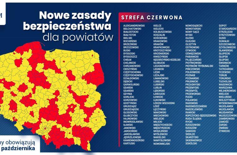 Koronawirus w Polsce. Strefa czerwona w kraju