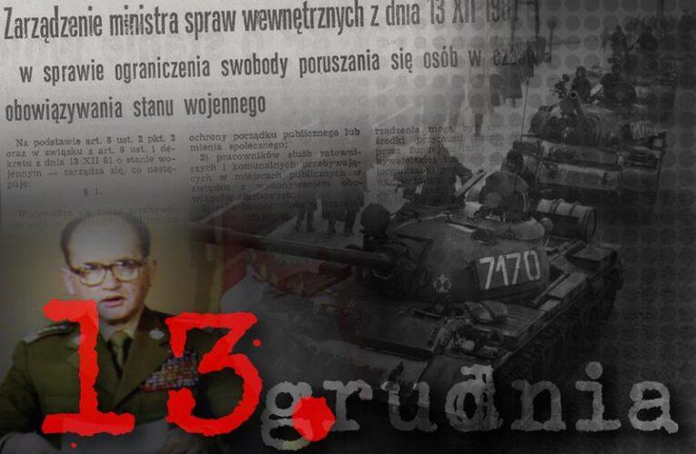 13 grudnia – Dzień Pamięci Ofiar Stanu Wojennego