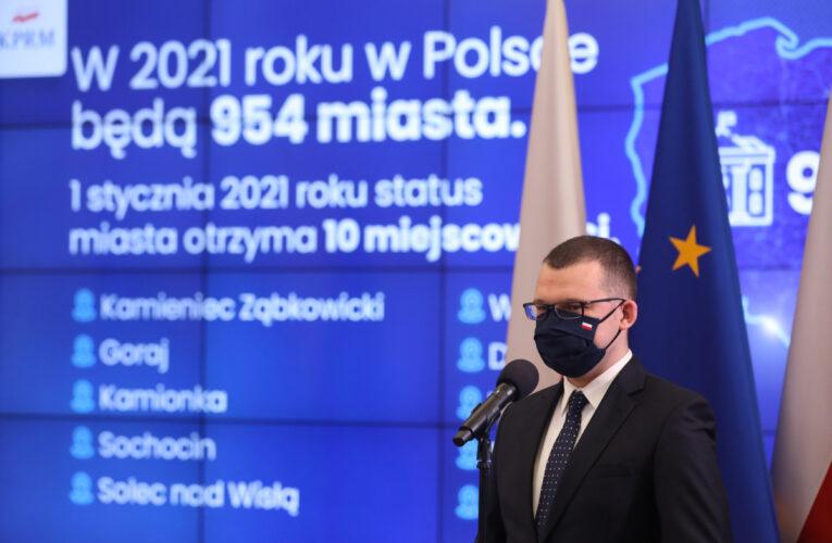 Od 1 stycznia w Polsce pojawiło się 10 nowych miast