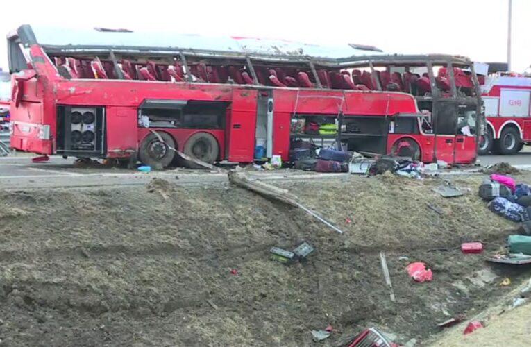 Podkarpackie: Tragiczny wypadek autokaru. Zginęło sześć osób, a kilkadziesiąt zostało rannych