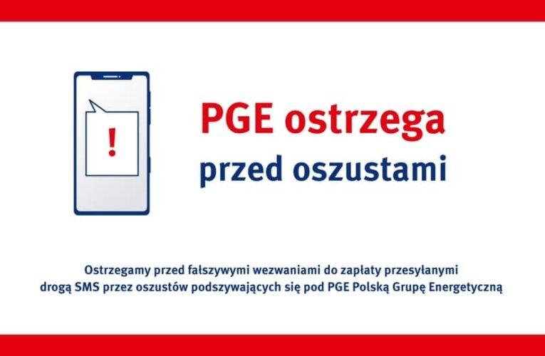 PGE: Uwaga na fałszywe wiadomości z wezwaniami do zapłaty za energię