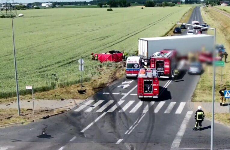 Tragiczny wypadek w Elżbietowie. Trwa ustalanie dokładnych przyczyn i okoliczności zdarzenia [NAGRANIE W ARTYKULE]