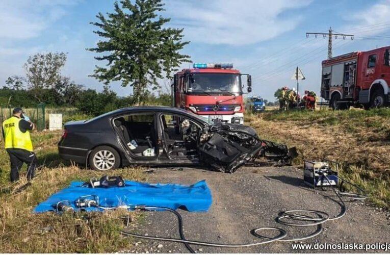 Tragiczny wypadek niedaleko Siekierzyc. Zginęła kobieta