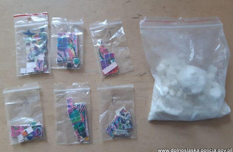 Dzierżoniów: Posiadał amfetaminę i LSD. Został zatrzymany przez policję