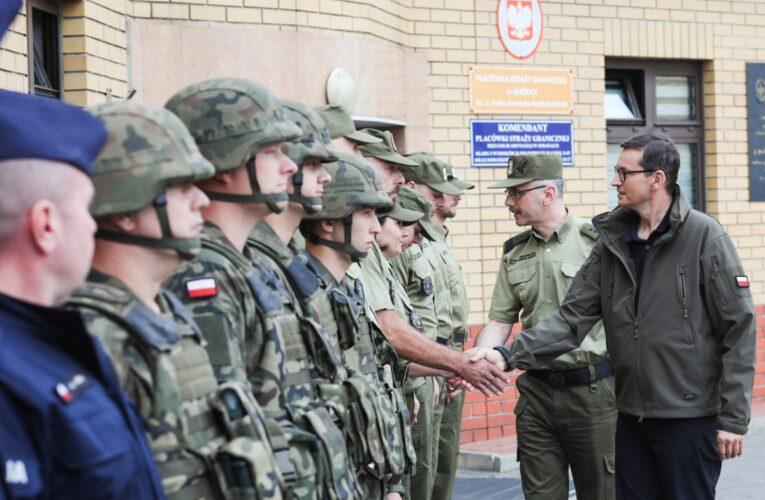 Wizyta premiera Mateusza Morawieckiego na granicy polsko-białoruskiej
