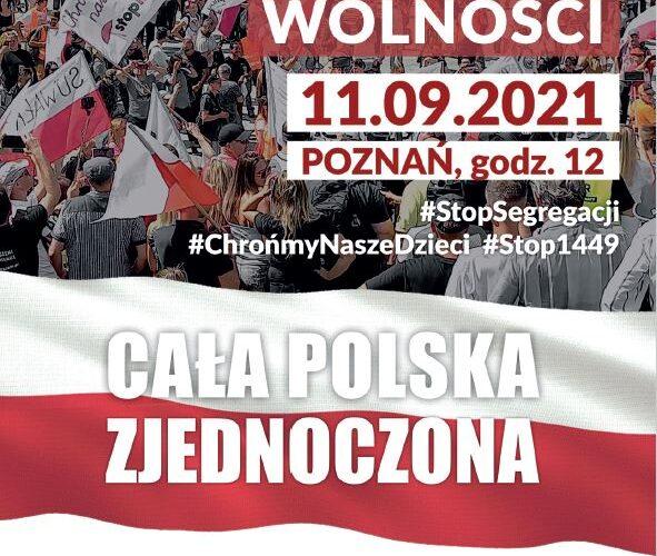 11.09.2021 Poznań – Ogólnopolski Marsz Wolności